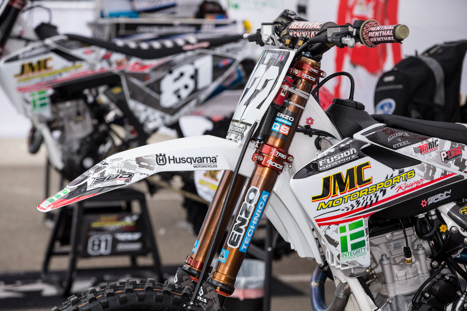 Chris Howell's bike featured KYB forks...