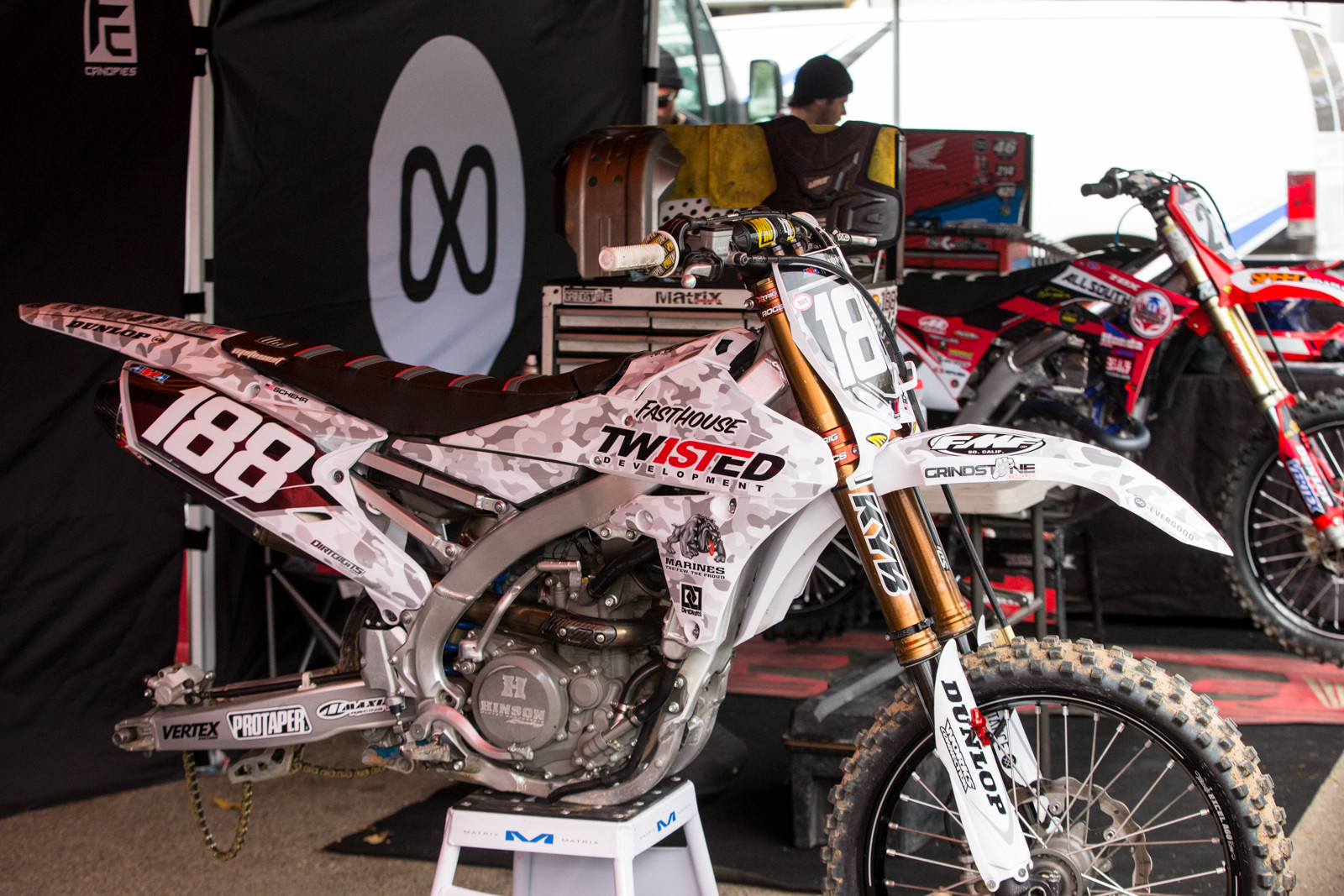 Privateer, Gage Schehr went full camo.