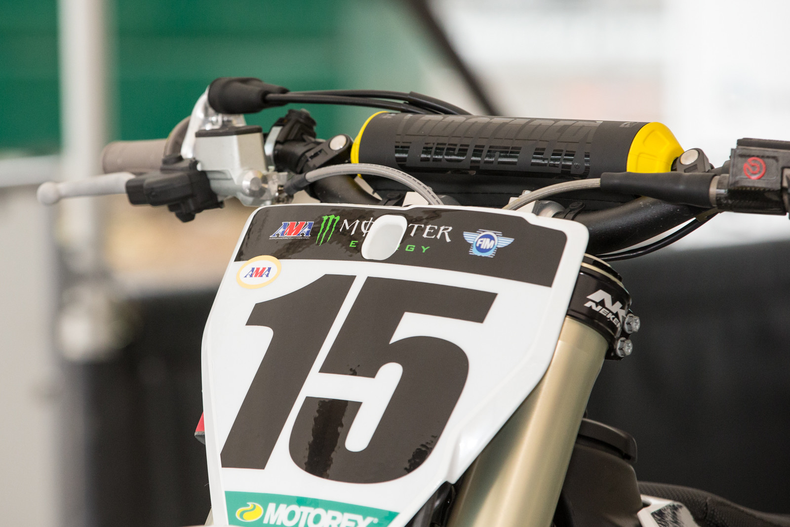 The latest collection of Pro Taper bar pads were released this week, here Dean Wilson's bike has one of the new sets.
