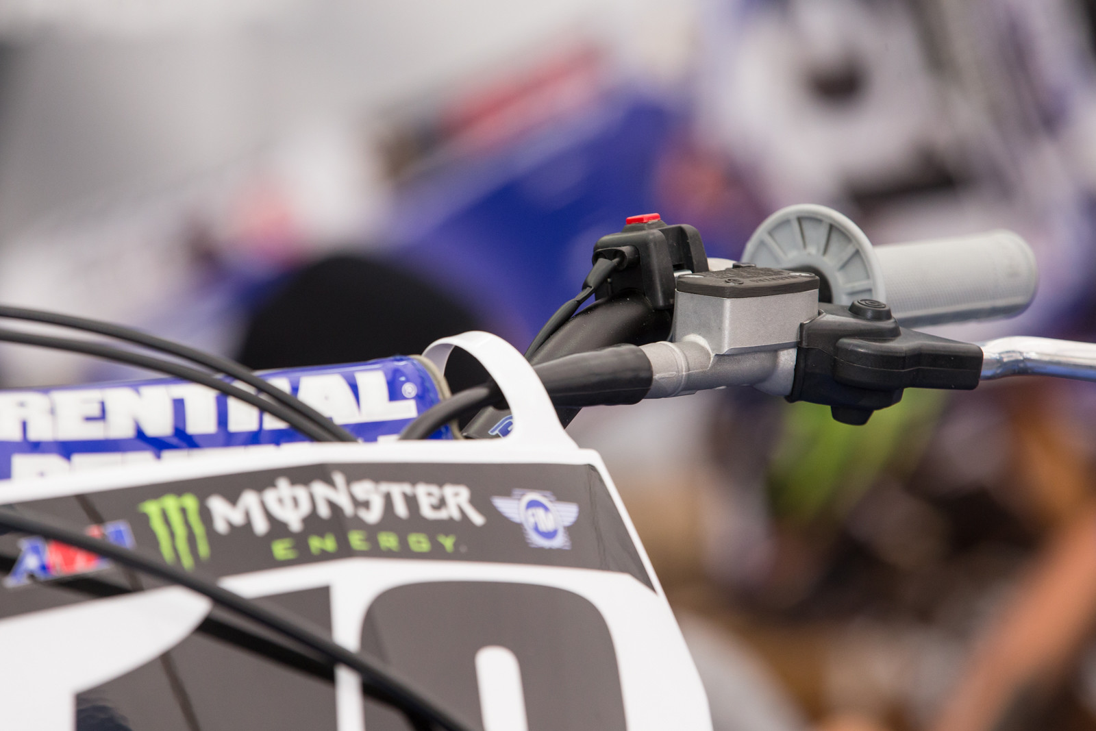 Davi Millsaps display bike featured a Brembo hydraulic clutch he had been testing at the time of his injury. He mentioned it had much better feel than the Nissin versions he had used in his Honda days.