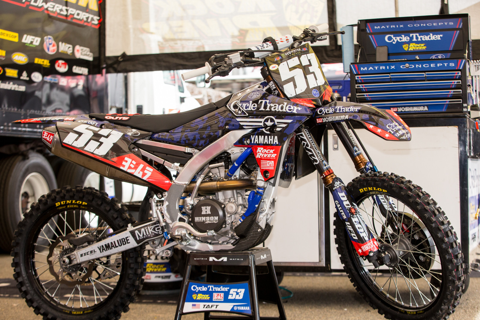 Roost MX went all in for the Cycle Trader/Rock River Yamaha team, she's a looker.