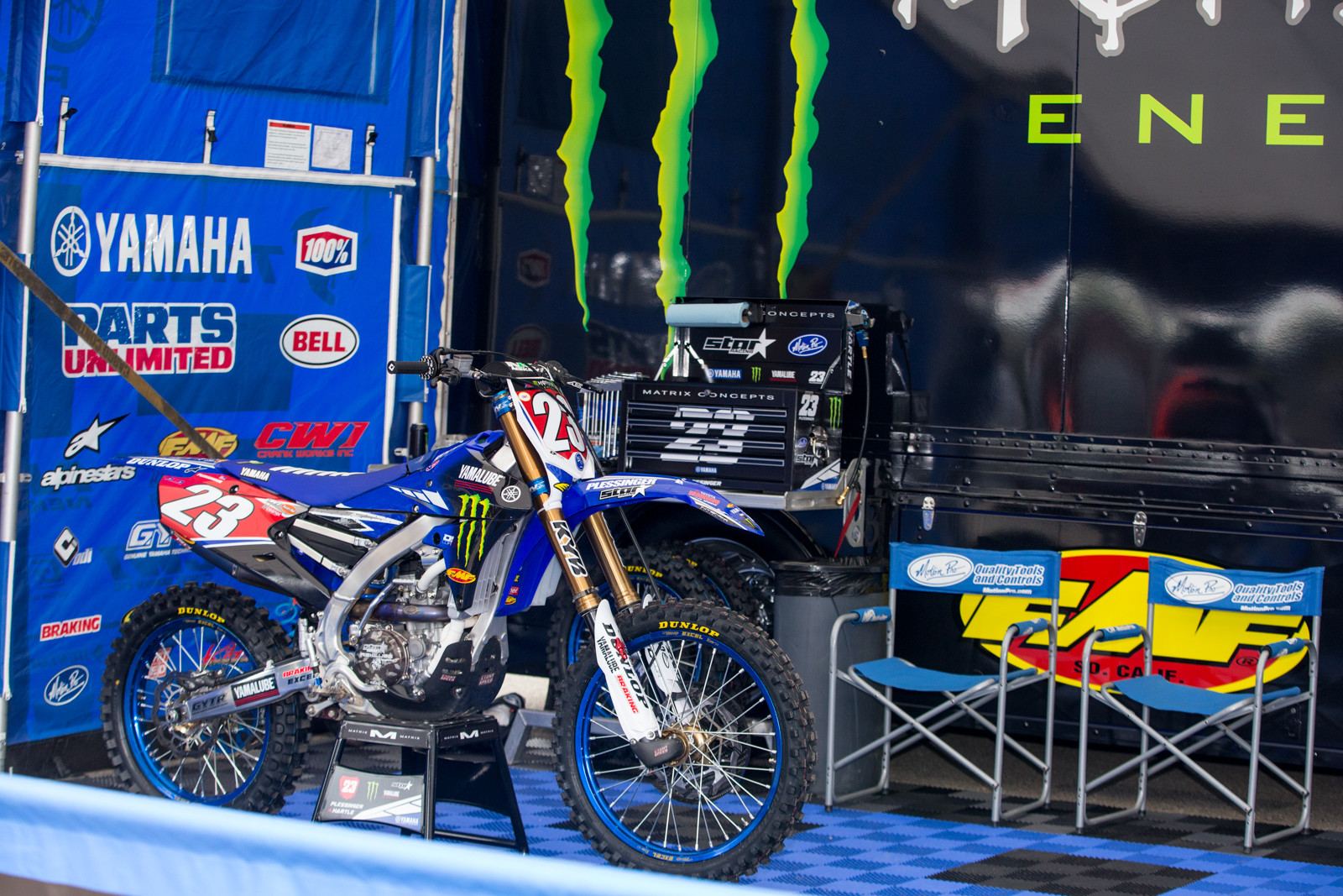 With Mitchell Oldenburg and Justin Cooper out injured, Aaron Plessinger is the solo man under the Star Racing tent.
