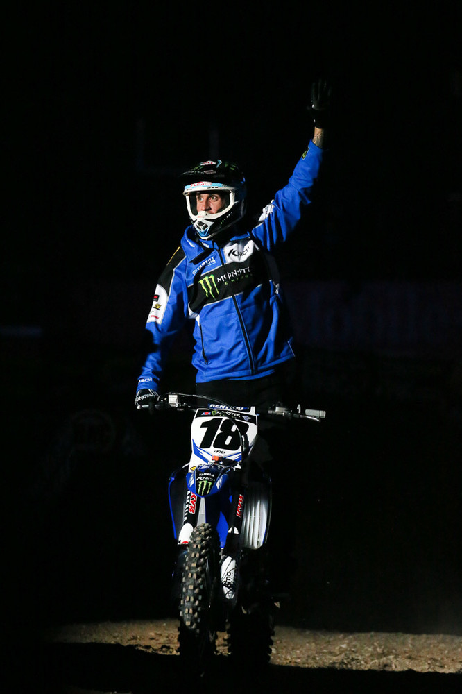 With Davi Millsaps' retirement announcement last weekend, it was cool to see him get to make a lap around the field before the action started, and he looked happy and relaxed during pre-race interviews. We will miss him on the track, though.