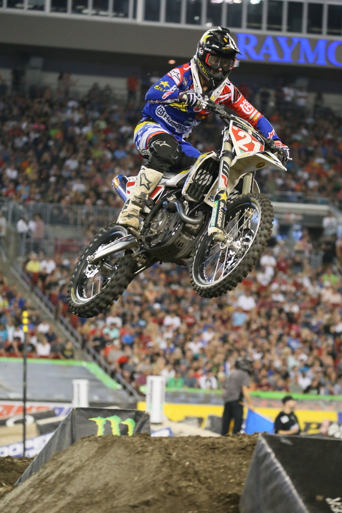 Jason Anderson moved up through the field to take third place.