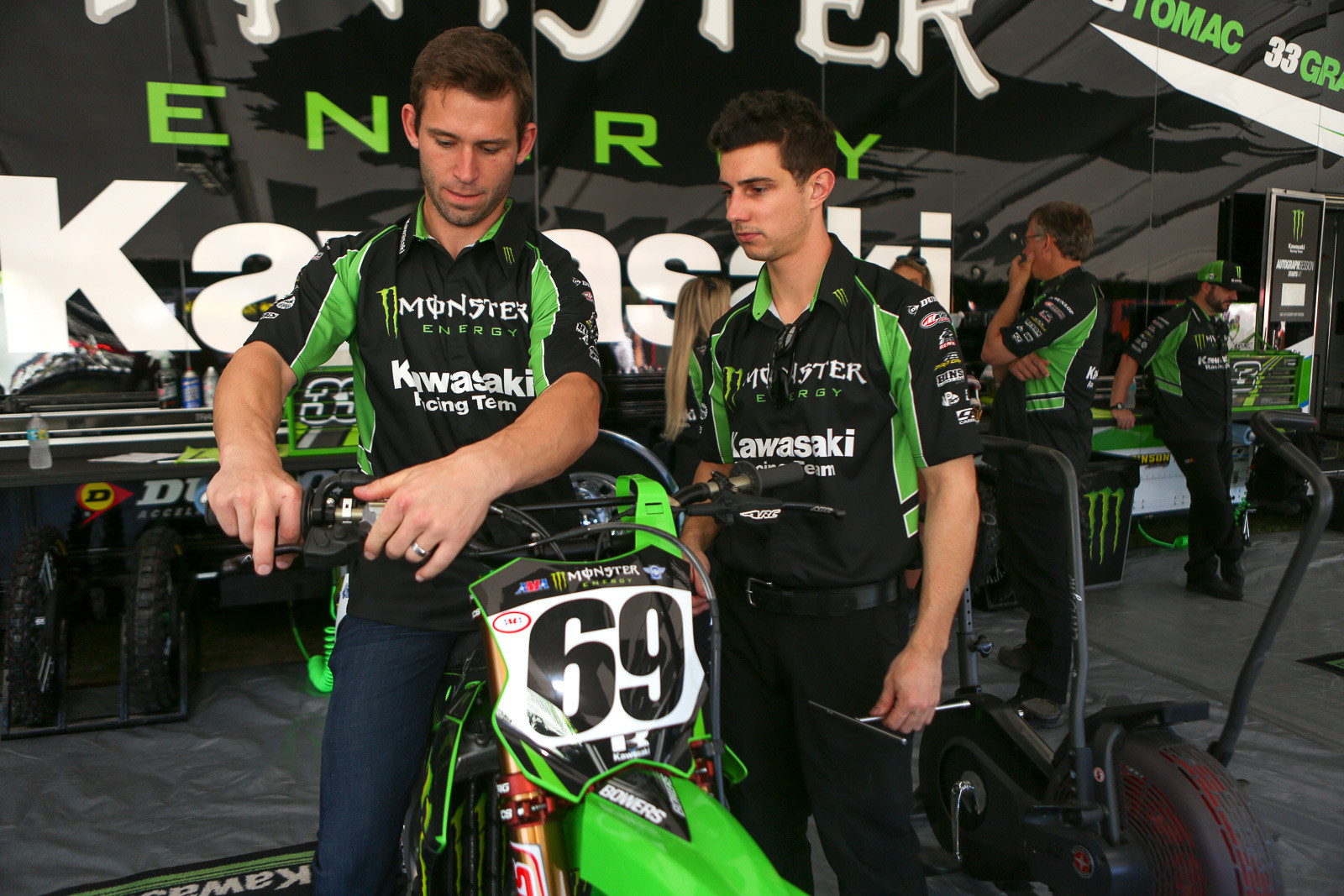 Tyler Bowers is filling in for Josh Grant over at Monster Energy Kawasaki after Josh's unfortunate ankle leg injury in practice at Dallas.