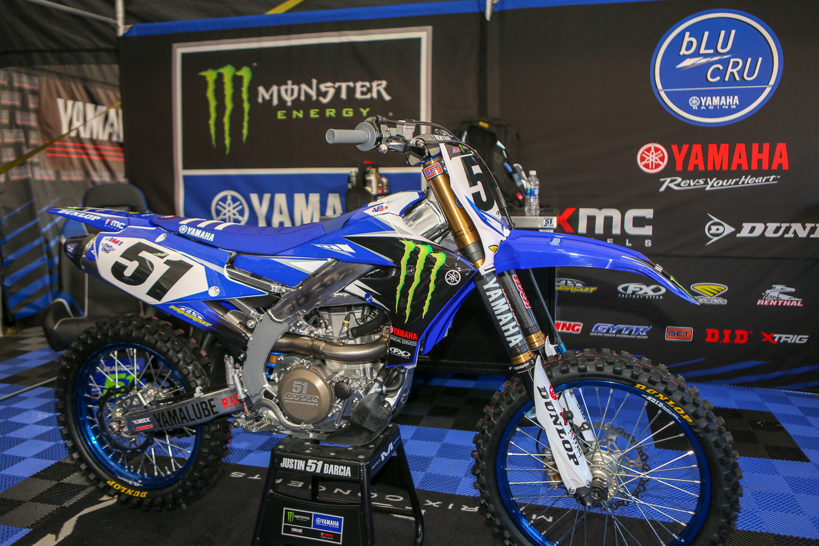 "Justin Barcia underwent surgery this week, and according to Keith McCarty, Justin had a plate and six screws put into the broken bone in his hand, but that it was also actually a fairly simple fracture. Here's a peek at the ""clean"" look of his bike that will await his return."
