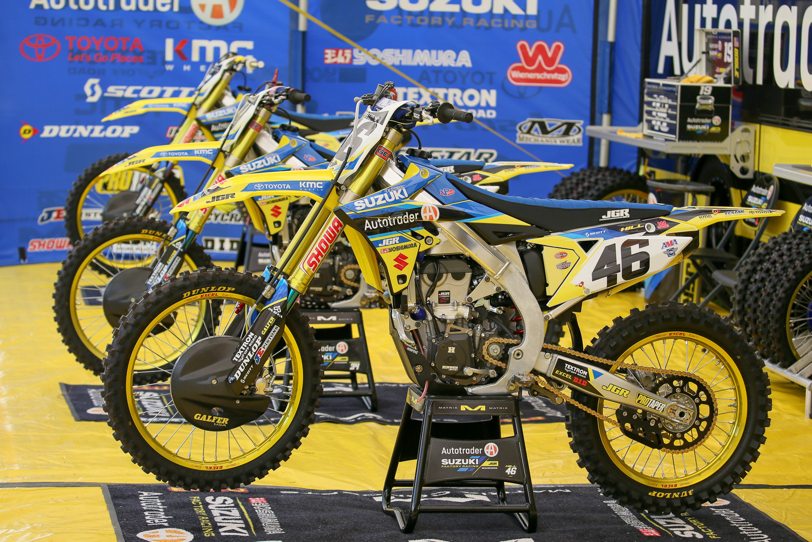 Justin Hill will take a crack at the 450 class for the next few rounds.