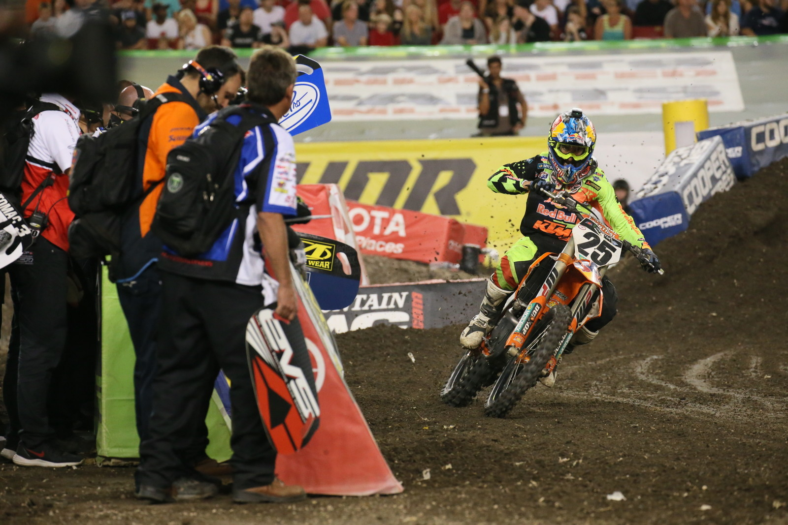 Marvin Musquin led for a large chunk of the Main Event before getting passed by Eli Tomac.