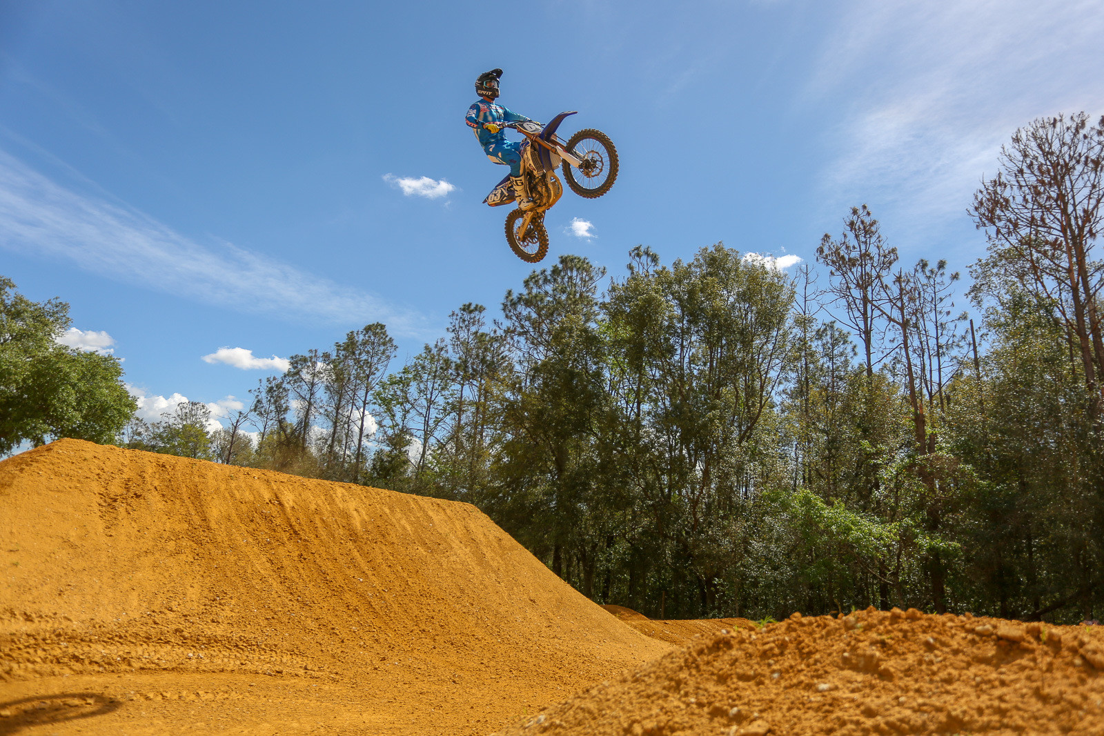 Hayden Mellross was putting in long motos while we were there.