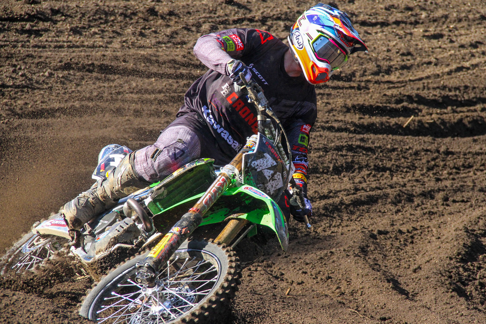 Jed Beaton and his F&H Monster Energy Kawasaki had a solid start to the season with fifth overall.