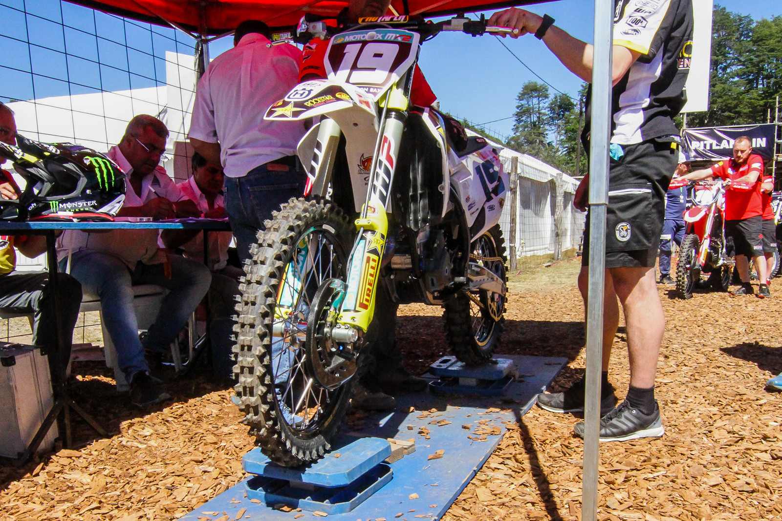MXGP does a weight bias style weigh-in during tech.