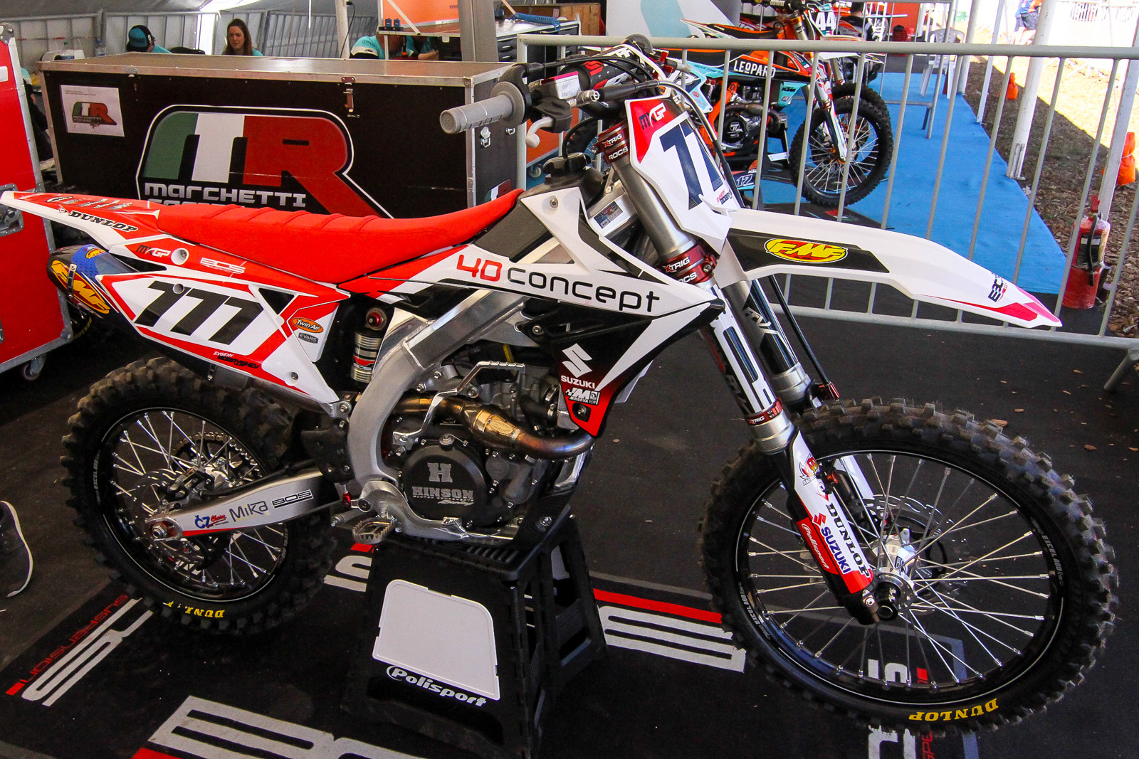 Another new team is the BOS GP effort which is operated by BOS suspension....a high-end component brand from Rally, single seater car racing and mountain biking. The team was supposed to debut this season with Jordi Tixier and a few other riders aboard KTMs but they're out with injuries for the first few rounds. The team signed Evgeny Bobryshev to race the season as well but he had already inked a contract with a British-based Suzuki team for the British Championship. With this, the team decided to just field Russian-Bob aboard a RM-Z450 as they don't have any manufacture ties.