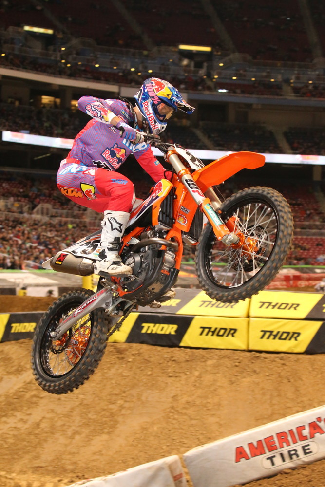 Marvin Musquin was third.