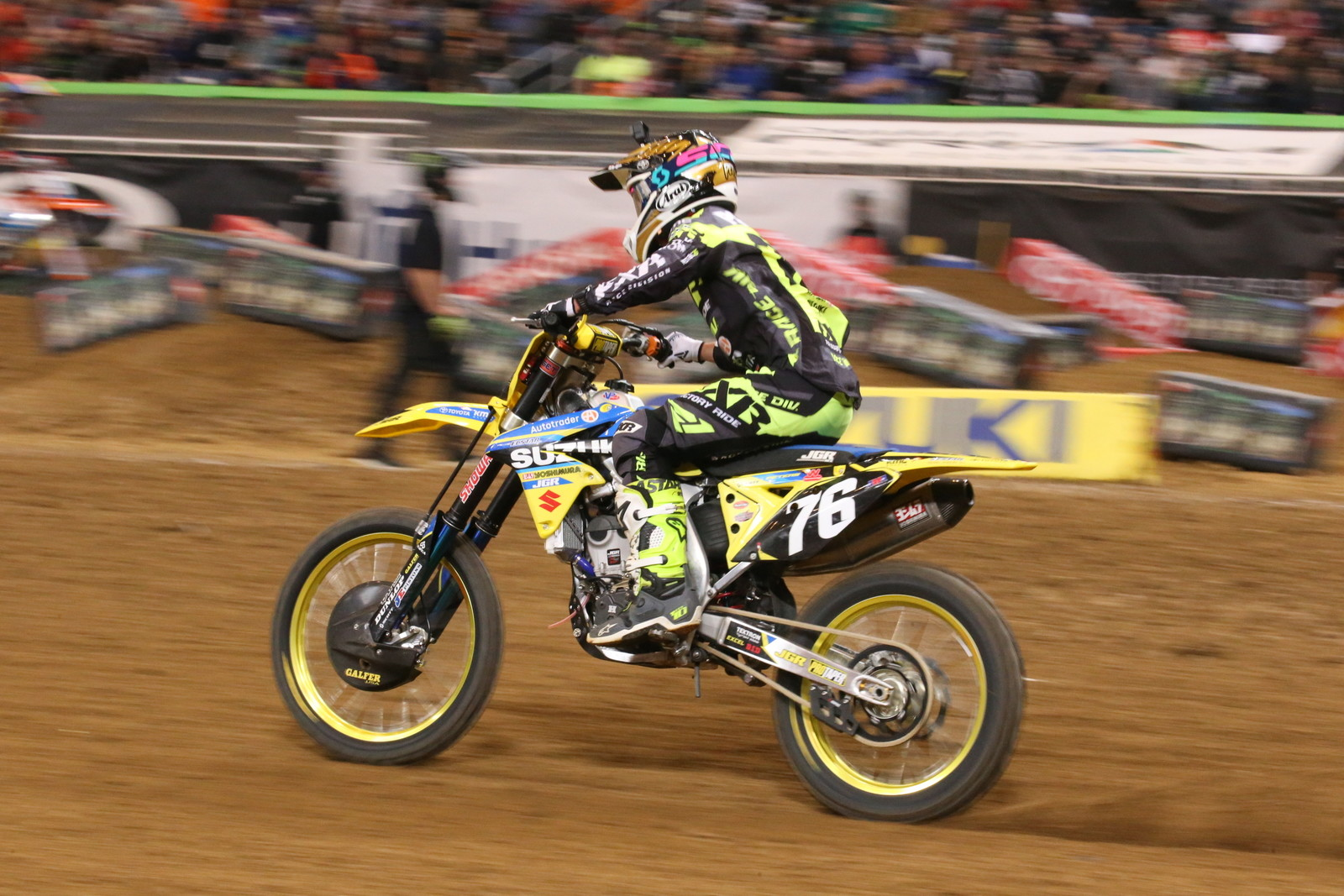 Kyle Peters rode well during the Main Event, and crossed the finish line in fourth.