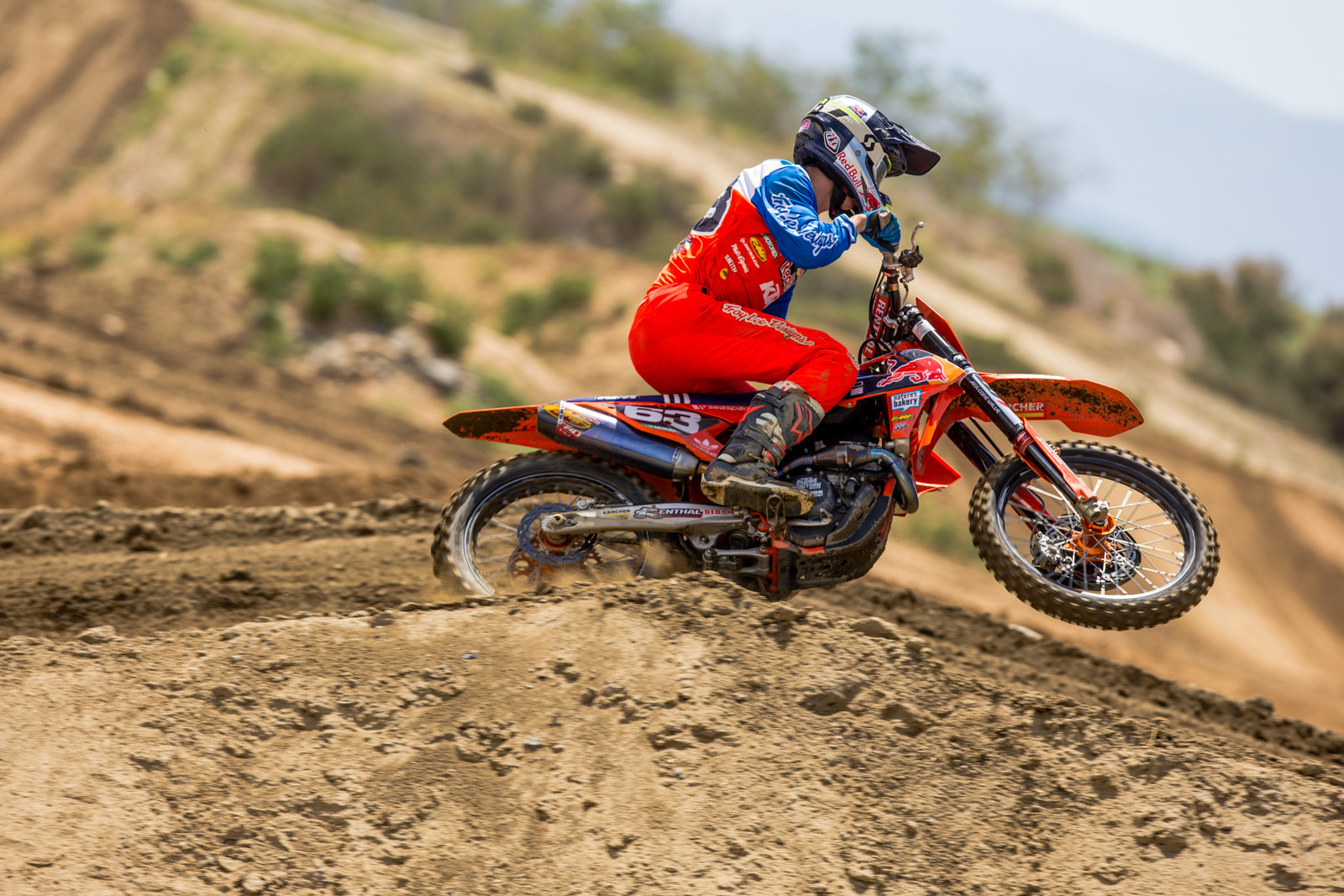 Troy Lee Designs KTM am rider, Pierce Brown, was out doing sprints with the whole pro squad.