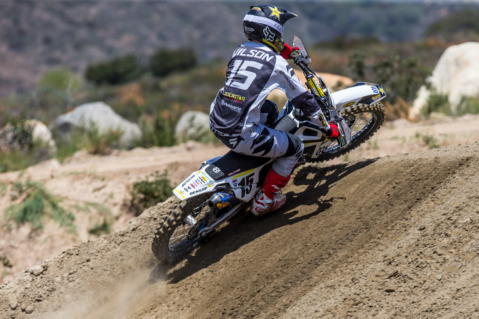 Dean Wilson stayed late and put it quite a bit of laps for testing sakes.