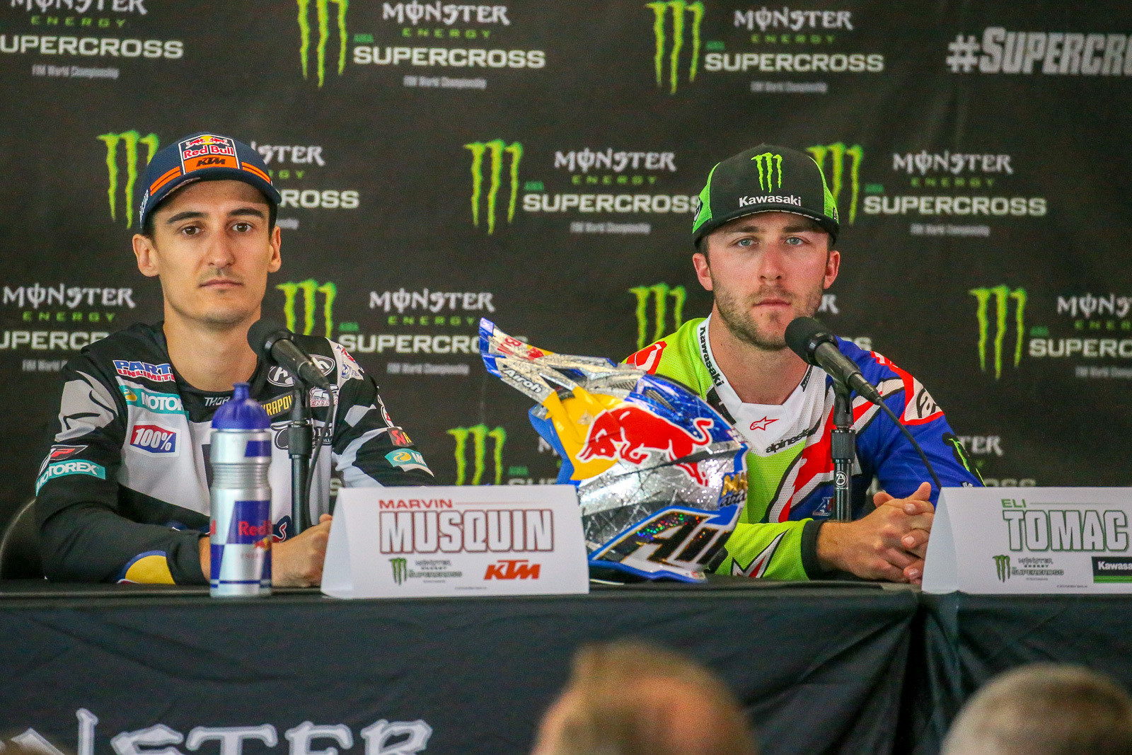 It's still a topic on the Vital MX Forums, on social media and around the pits, but Marvin Musquin and Eli Tomac have little appetite for talking about what happened during last weekend's main event.