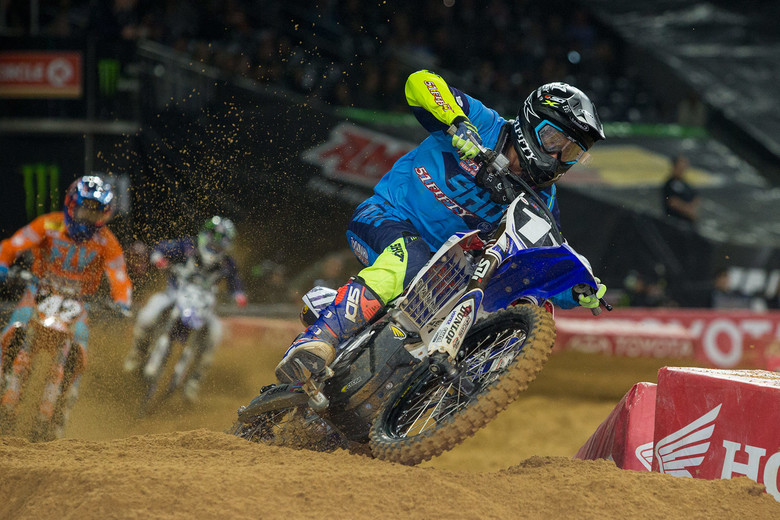Chiz racing at the Houston supercross round.