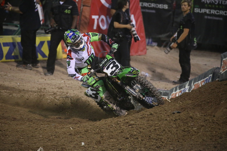 But Eli Tomac eventually got by and rode on to the win.