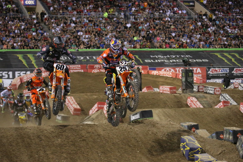 Mavin Musquin led the second 450 heat from start to finish.