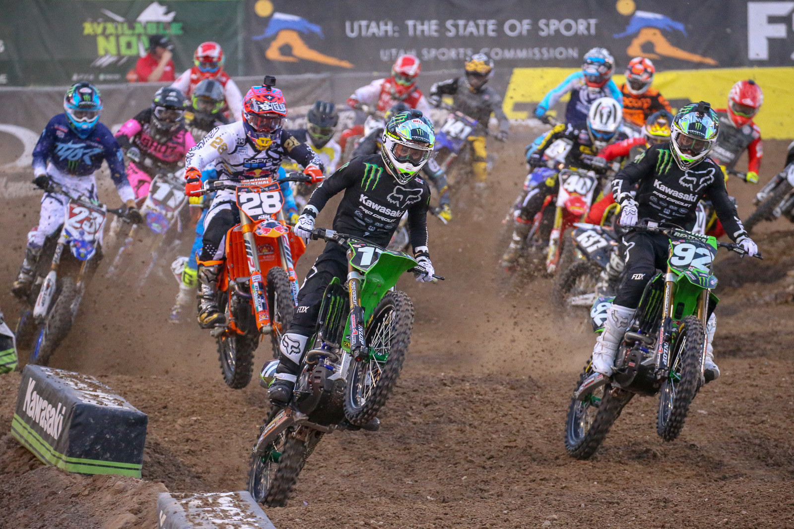 Joey Savatgy was on fire during the 250 West heat, going wire-to-wire to take the win.