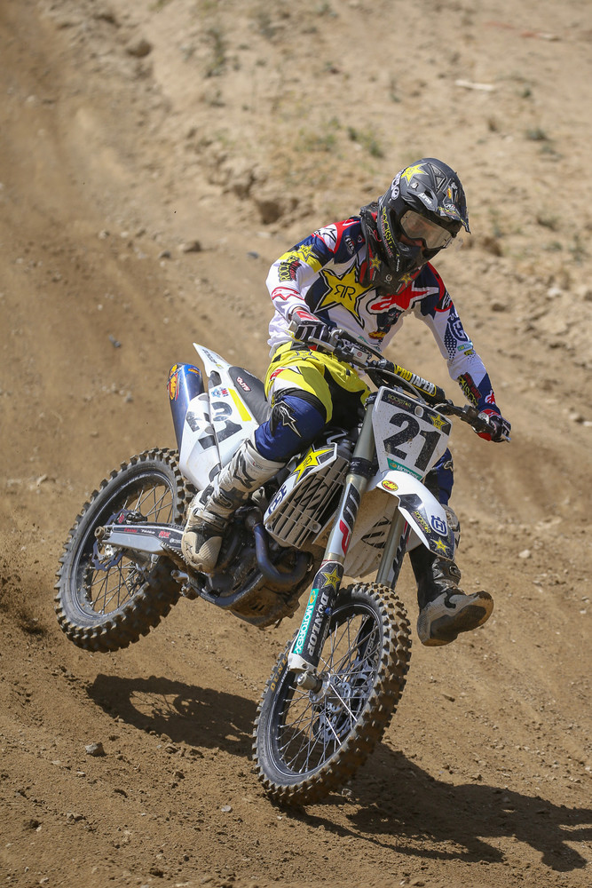 The last we'd seen Jason Anderson, he was making an early exit from the press conference in Las Vegas due to illness after wrapping up the 450 crown. The good news is, he was back to full speed at Glen Helen, and dialing in his big Husky.