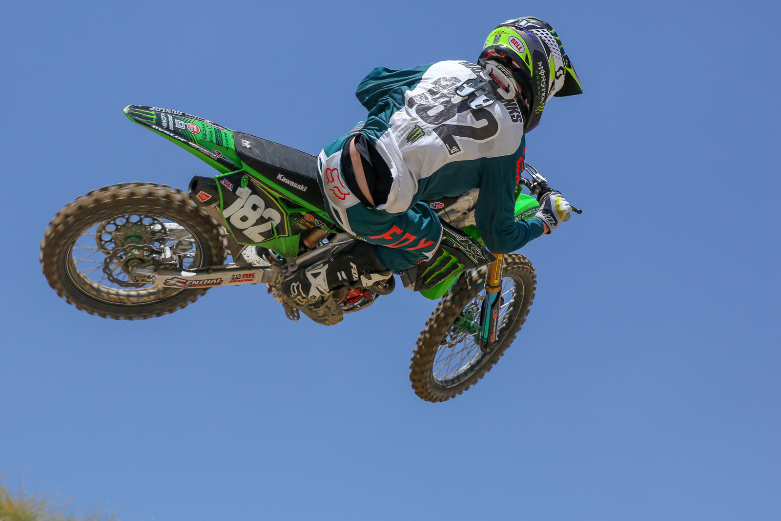 When we got the press release about Garrett Marchbanks joining the Monster Energy Pro Circuit Kawasaki team for the summer, we suspected that it was just one shoe dropping on their summer roster. That got confirmed in Las Vegas when Adam Cianciarulo let it slip that he was out due to knee surgery. So far Garrett looks plenty speedy, and it'll be interesting to see where he slots in this summer.