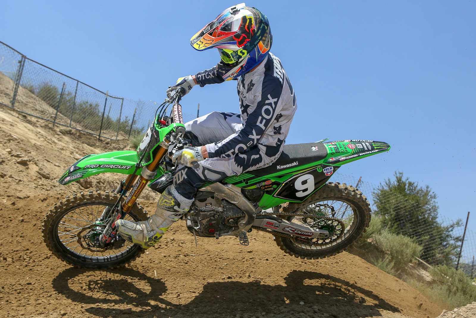 If you see Ivan Tedesco on the track, you know he's testing bikes and helping get the Monster Energy Pro Circuit Kawasaki guys dialed in.