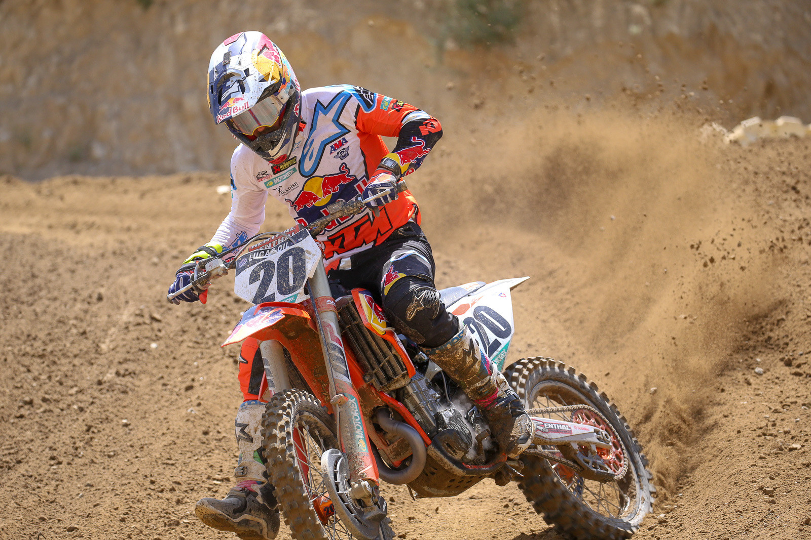 Broc Tickle was putting in laps and waiting on results for his B sample from San Diego. The bad news is, that one came back with the same result, and now he'll have to have a hearing to determine his penalty. We also got a press release today that Red Bull KTM has dropped him from the squad.