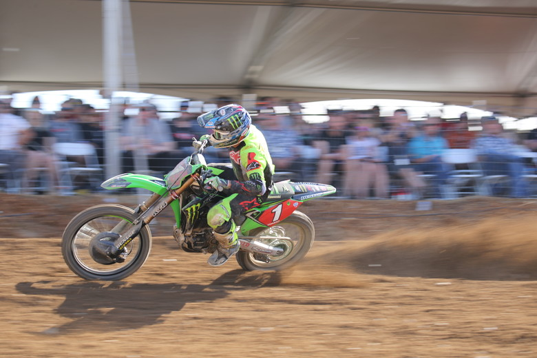 Eli Tomac got a bad start, worked his way to the front, had a tip over, and then went on an absolute charge to the lead.