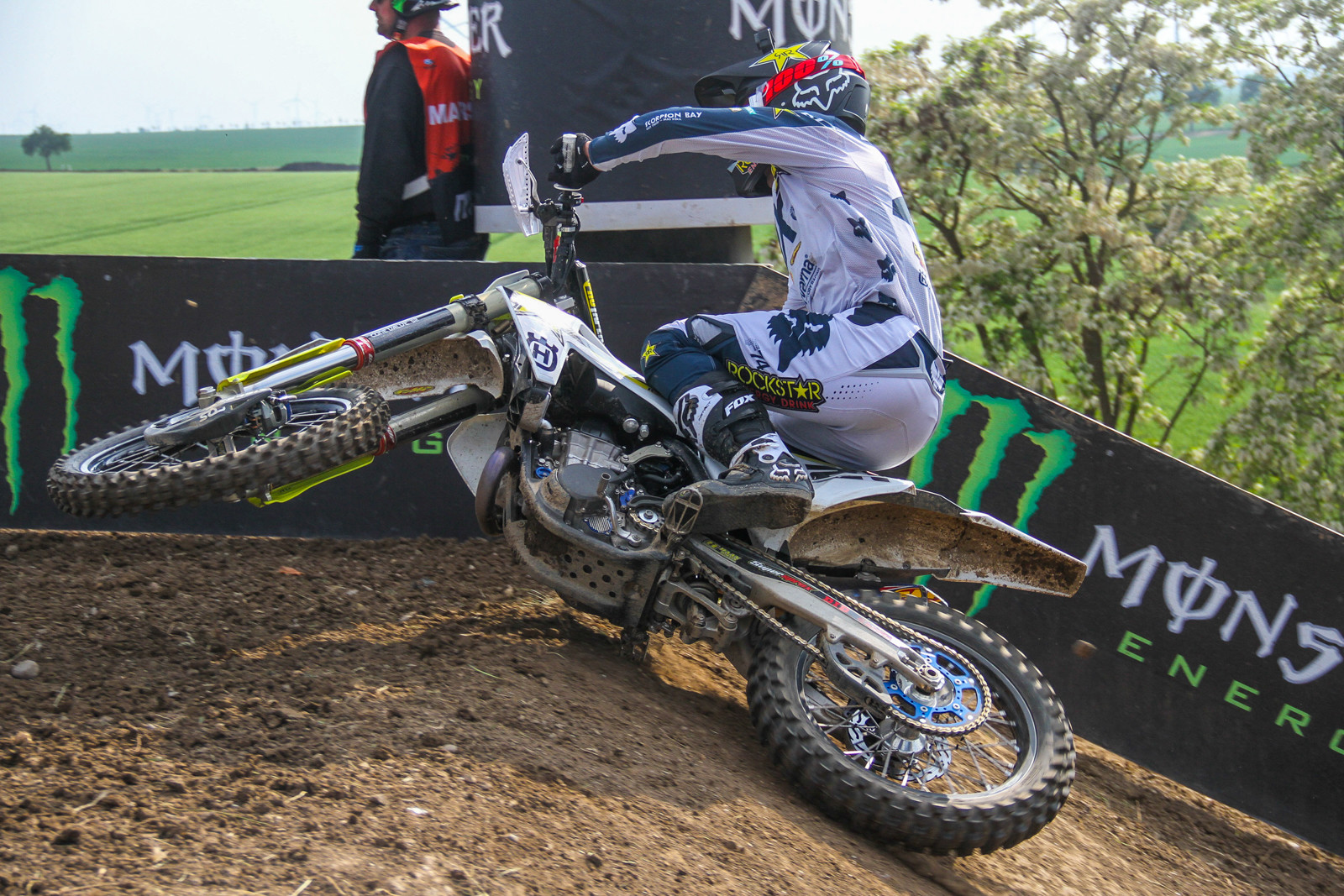 Gautier Paulin laying it down on the way to a podium position, with third.