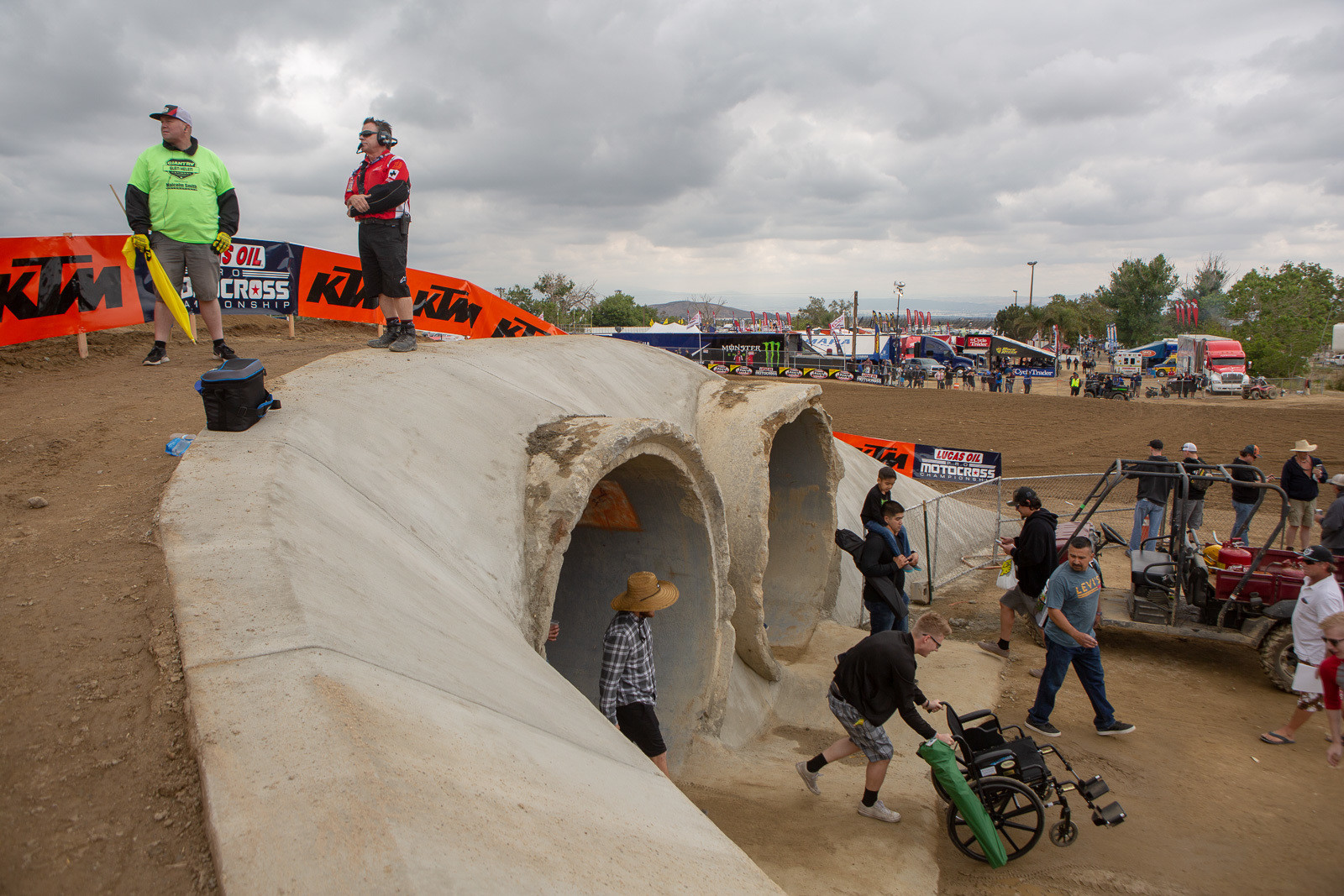 Glen Helen made some improvements coming into the event, which was cool to see. We're not sure what was happening with the P.A. system (they had a new supplier for the race), but it was eerily silent before the start of the first moto.