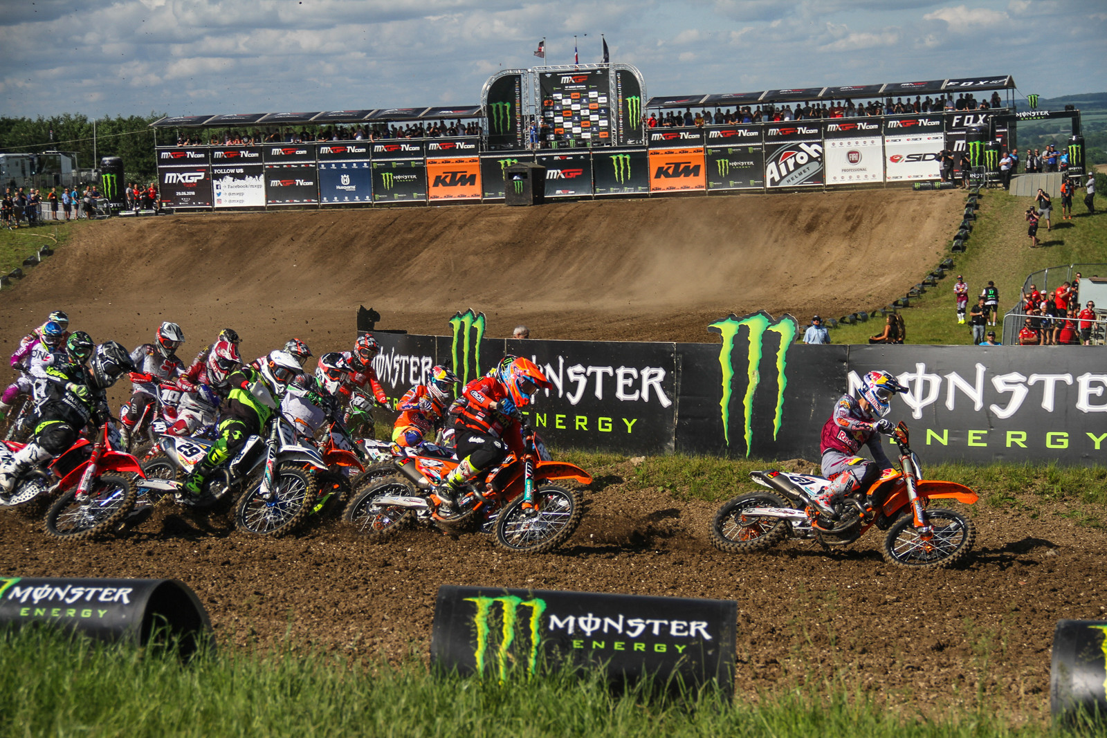 Flipping a coin for tails offers less of a chance of being right than saying Jorge Prado will get the holeshot.
