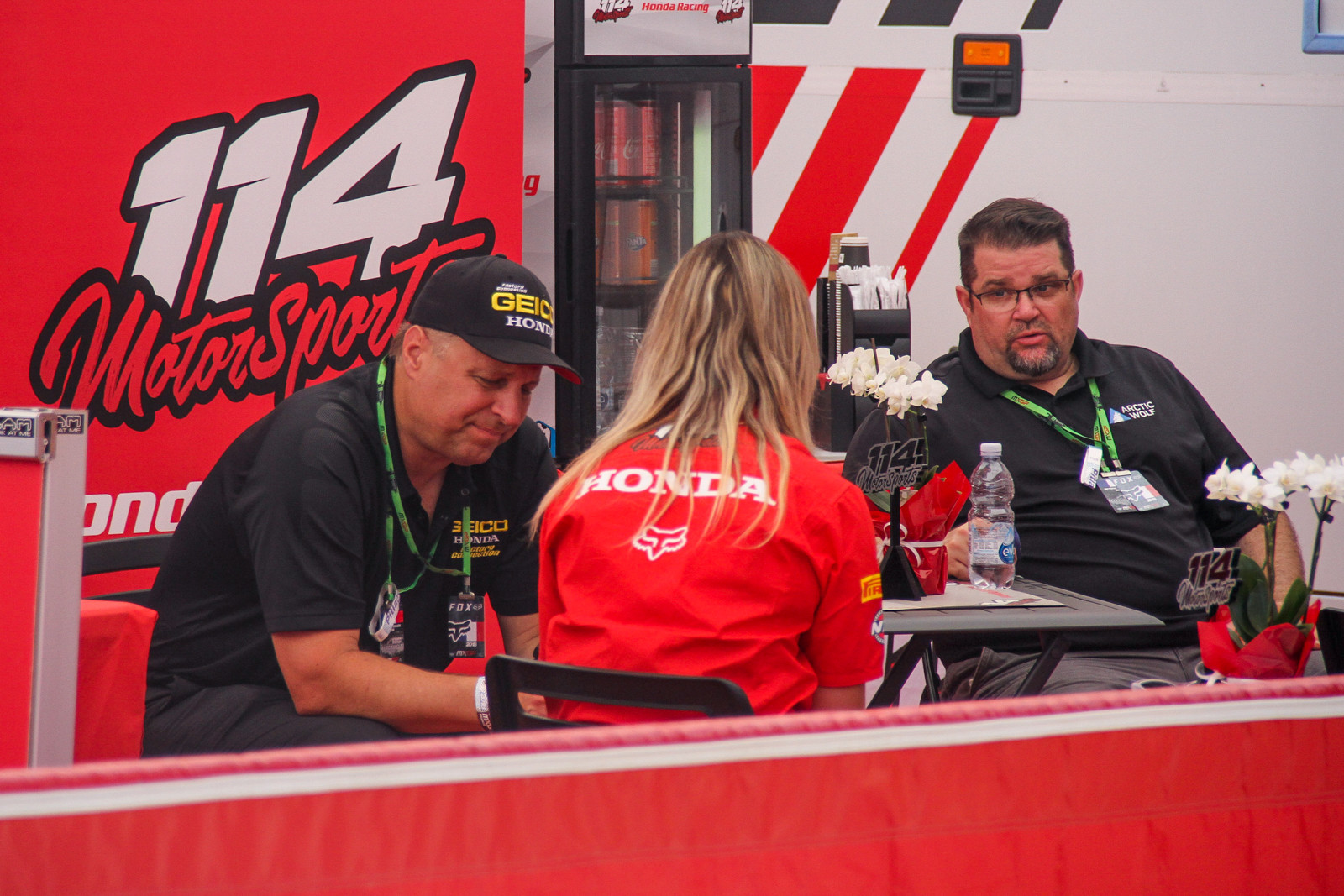 Some of Geico Honda's ownership was on hand to check out the GP and spent time under the 114 Honda Motorsports tent, as they have Hunter Lawrence signed for 2019 and on.