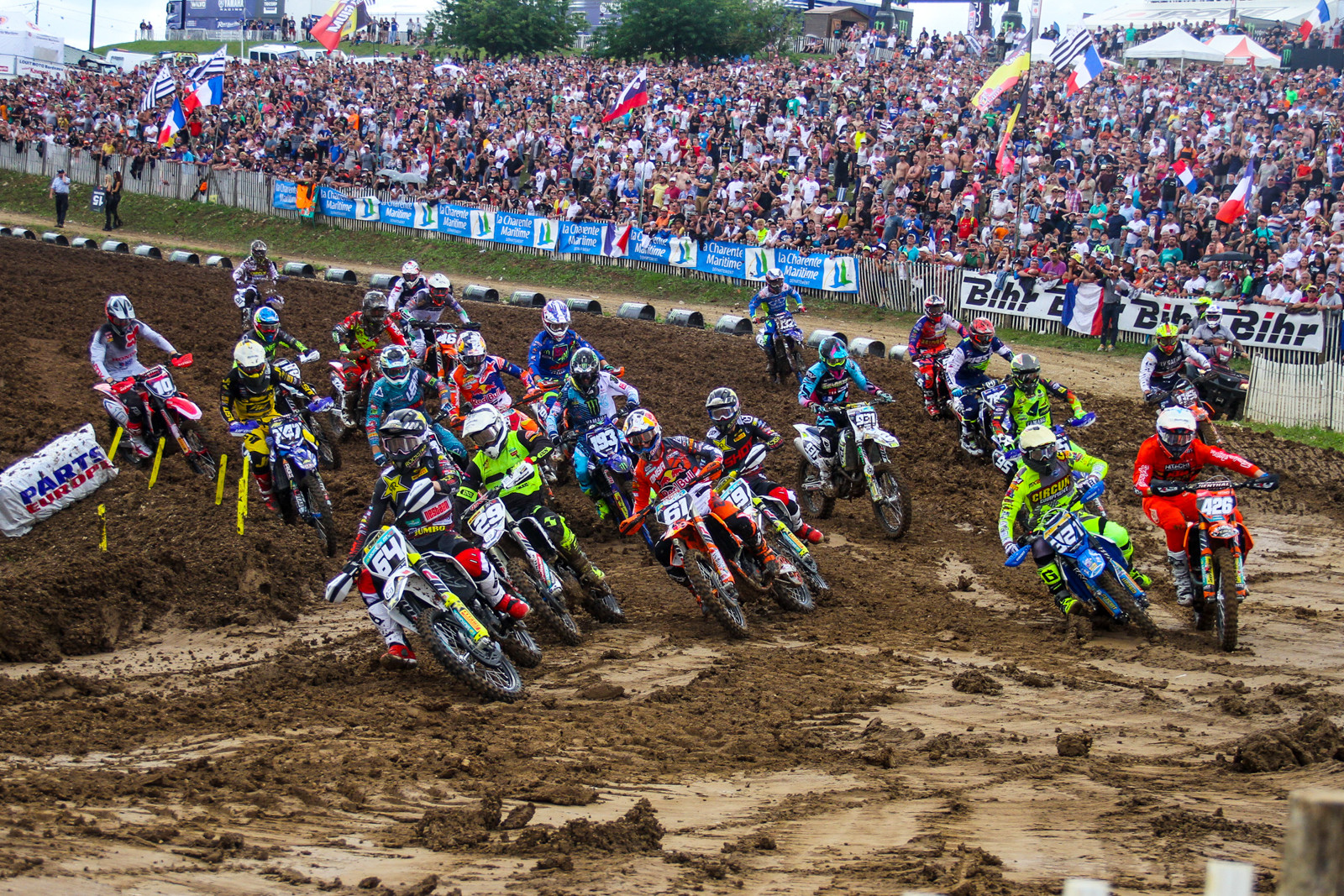 Thomas Covington cranked out a holeshot over the weekend and followed it up with a moto win...then a third in moto two for third overall.