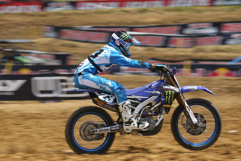 Aaron Plessinger's Yamaha will have red plates again starting next week.