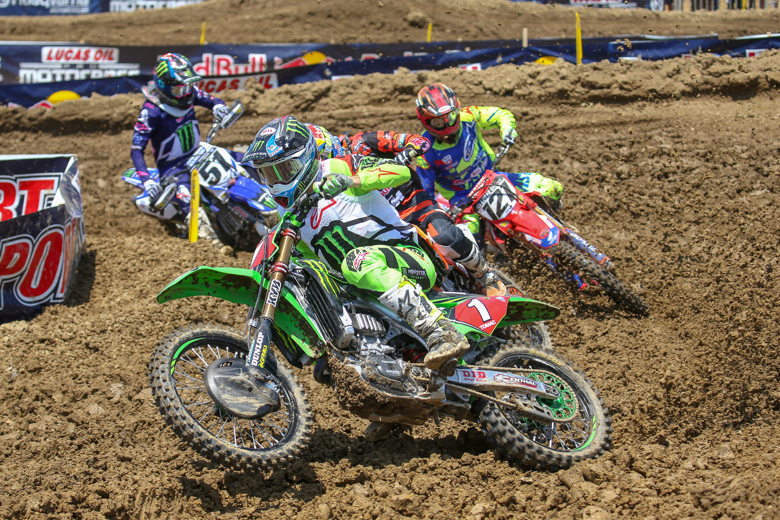 Eli Tomac and Marvin Musquin got away cleanly, as did Cody Cooper and Justin Barcia.