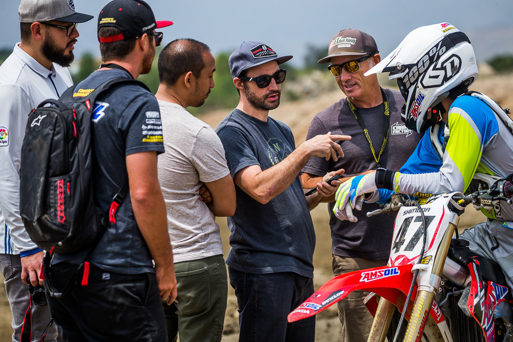 Test with Jo Shimoda (Amsoil/Factory Connection/Honda) and his coach Yannig Kervela.