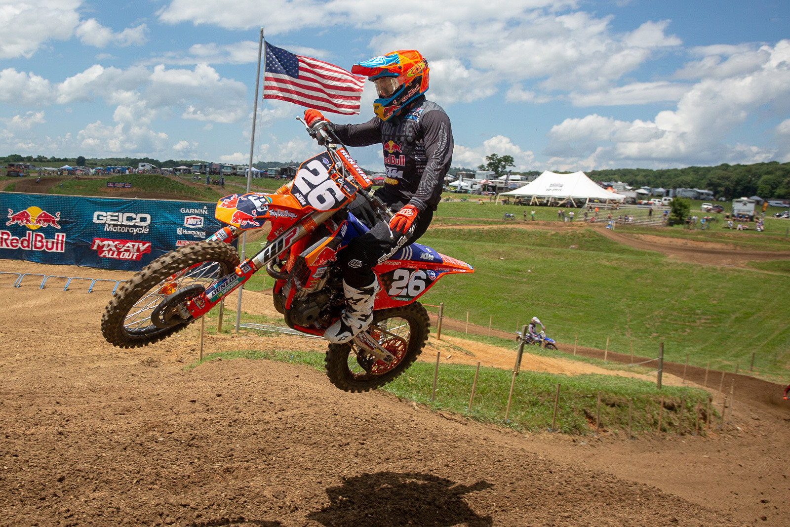 Alex Martin has been running some of P3's shroud extenders on his Troy Lee Designs/Red Bull/KTM.