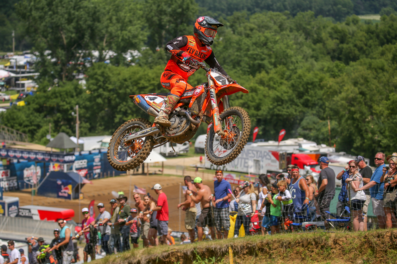 Blake Baggett is still hunting for the perfect setup, and did some tire testing between RedBud and Spring Creek. He was on the podium for the first moto, and just outside the top three in moto two.