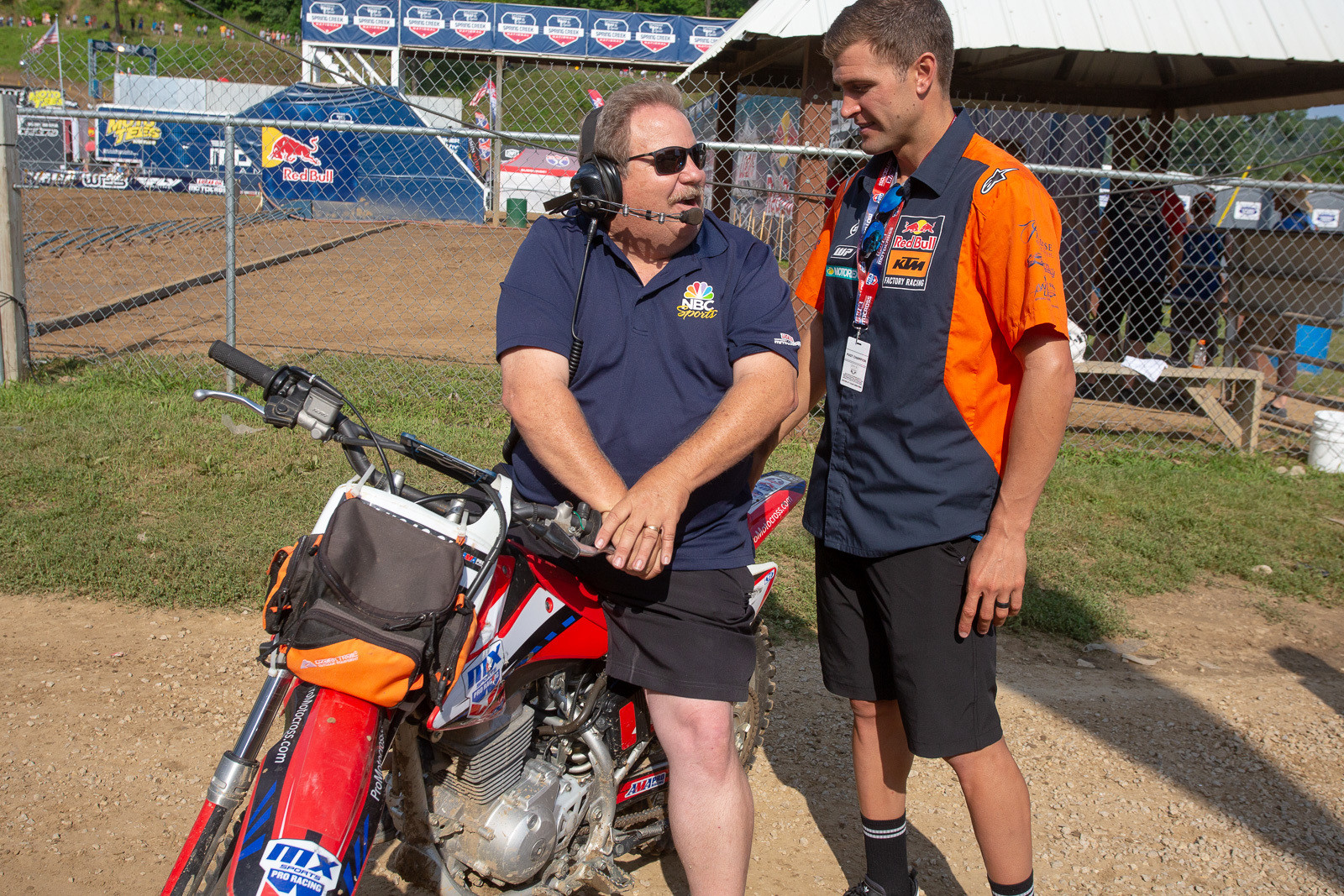 Ah, Spring Creek memories. It doesn't seem that long ago that we saw Toolie (Tim McAdams, left), wheeling Ryan Dungey's bike to the line for his first pro race. Ryan was the Grand Marshal for the weekend's event.