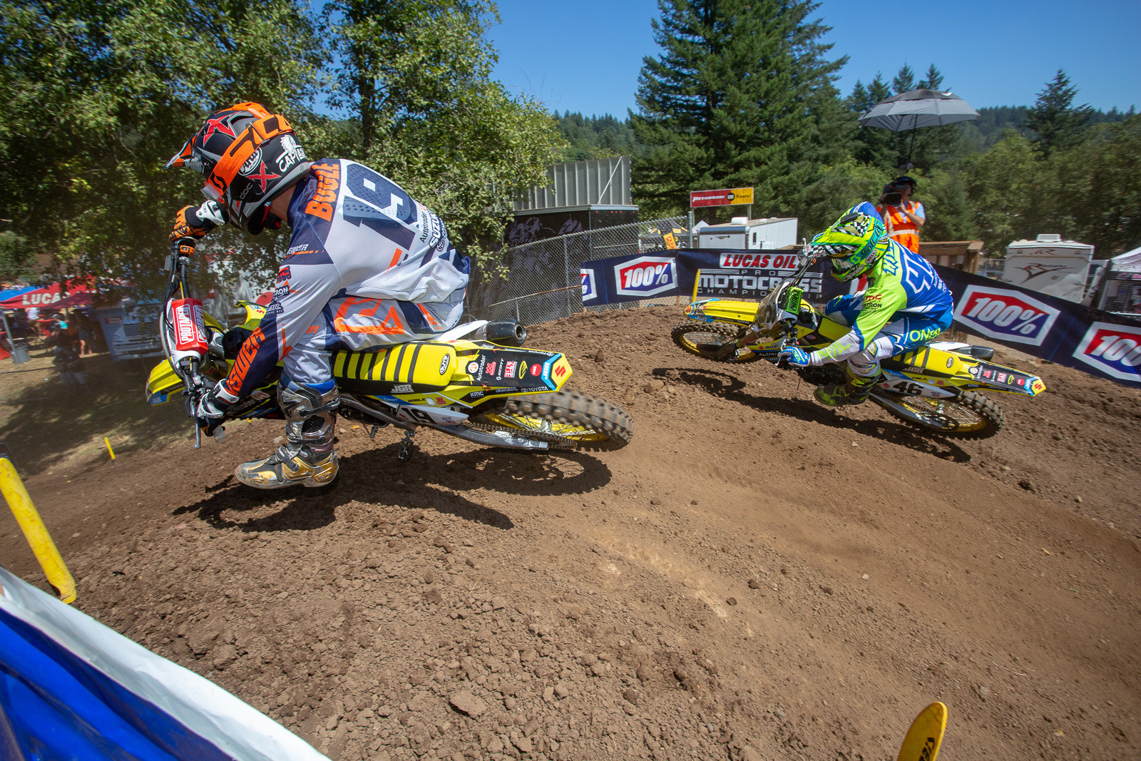 "Justin Bogle may still be struggling to get back up to full speed from his arm injury earlier in the season, but his starts are on lock. We were joking with him before the race about getting great starts at this point was sort of a good news/bad news situation (the good news is that you got the holeshot/the bad news is now you have 39 angry guys behind you), and he said that, ""I have to give myself a chance."" He mentioned before his overall win last year at Budds Creek, that he'd gone 4-10 the week before at Unadilla. You never know when a breakthrough will happen. Justin Hill was also looking for good results at his ""home"" track. Bogle slipped back to 13th, while Hill was fourth in moto one."