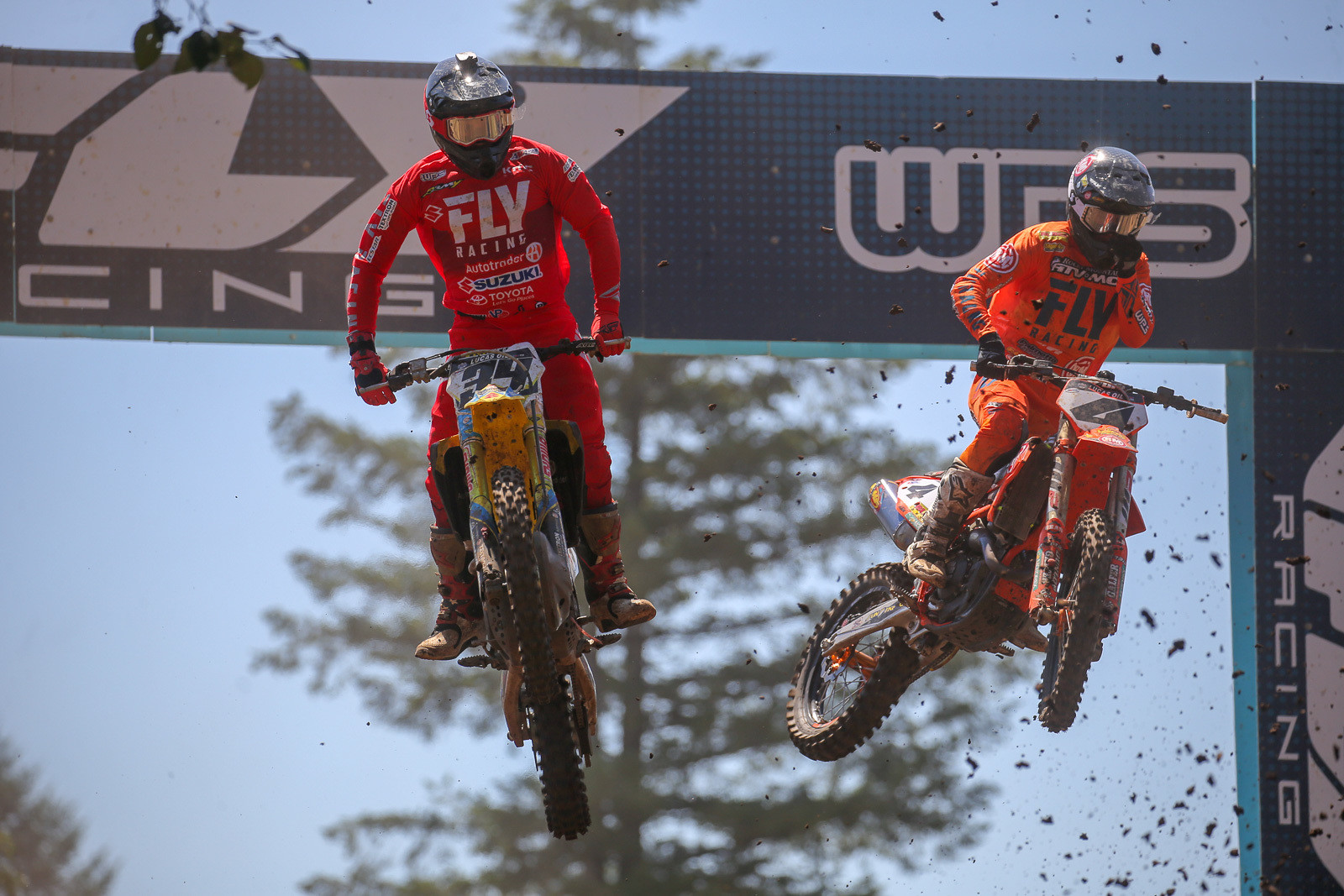 Fly did their on-track debut for lots of new gear this weekend, and Weston Peick and Blake Baggett figured prominently in its display. Blake was fifth overall this weekend, while Weston was eighth.