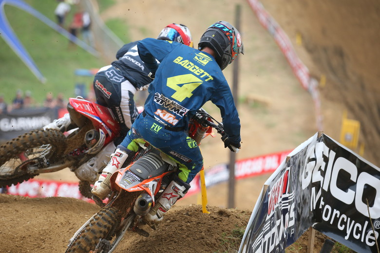 Blake Baggett looked to be in his best form of the season. He was hauling in both motos.