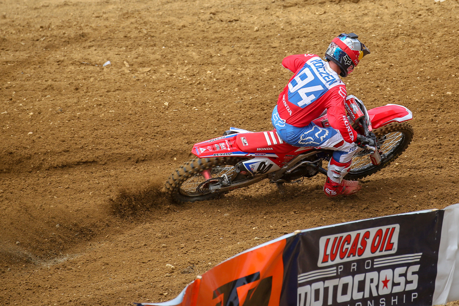 Ken Roczen quickly took over the top spot and sprinted away...despite reportedly not feeling particularly spicy.