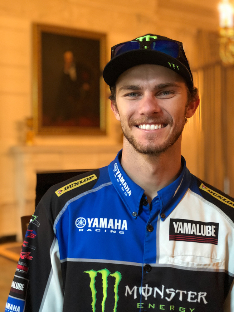 What better way to start a weekend at a race near Washington, DC, than with a trip to the White House with a member of Team USA? Aaron Plessinger was eager to sign up for the visit.