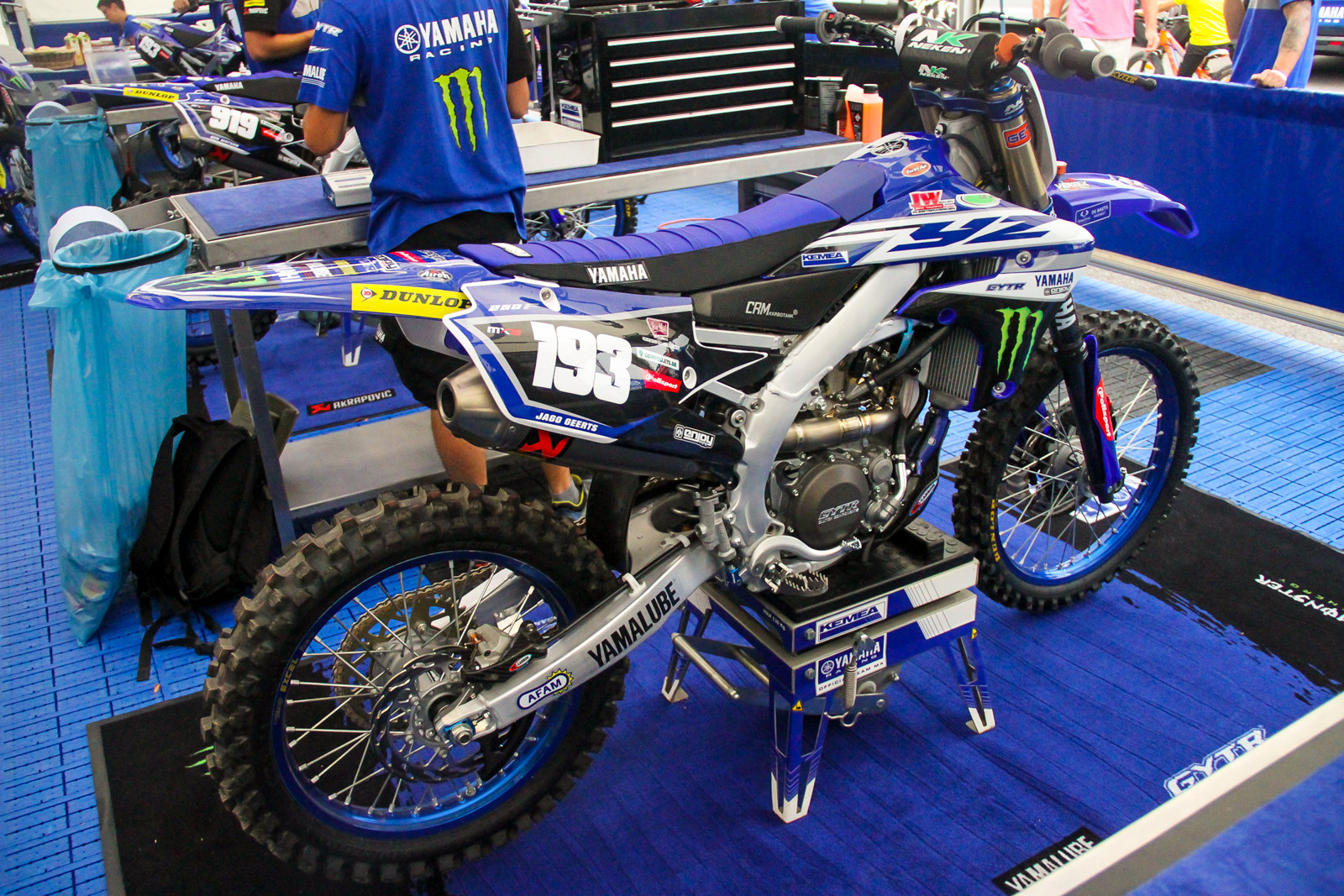 The Kemea Yamaha team got a late season present as they were able to lineup on the new 2019 YZ250F.