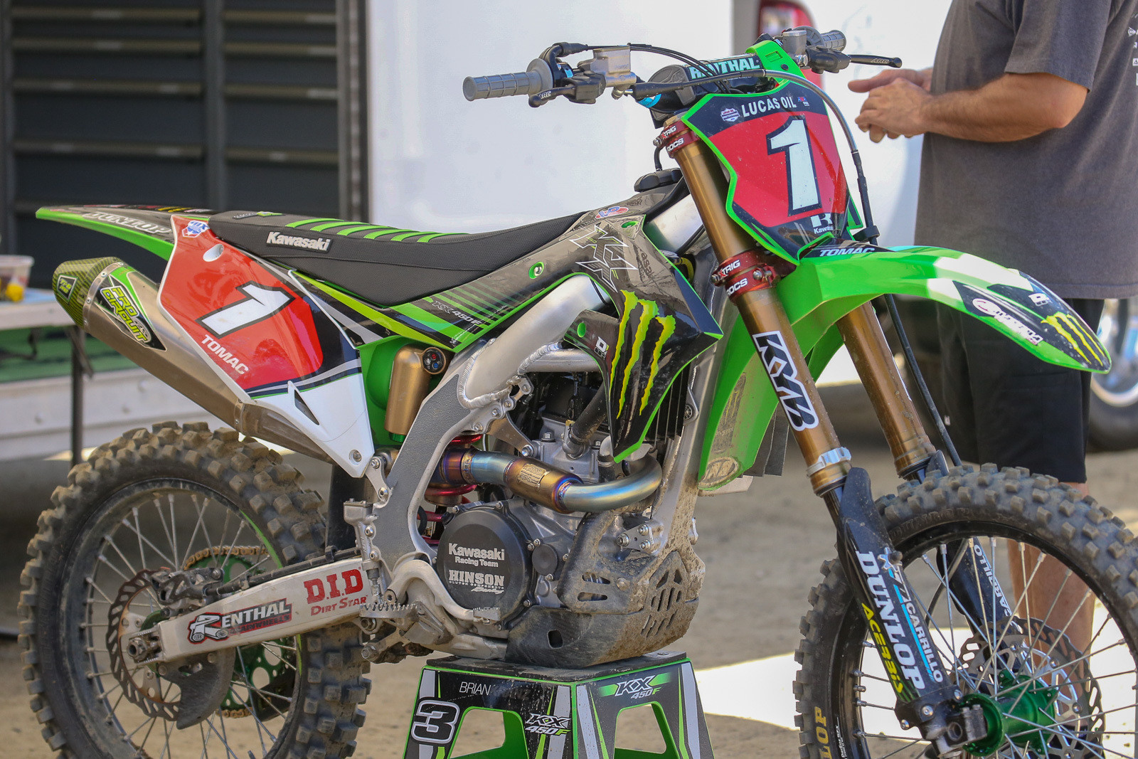 Here's the new scoot, in full race trim. Yep, the plan is to race it at the MXoN, and the Monster Energy Cup.