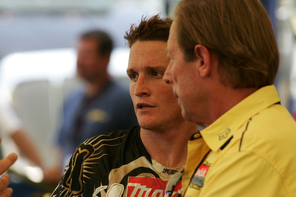 Ricky Carmichael was among the riders that Roger has worked with over the years.