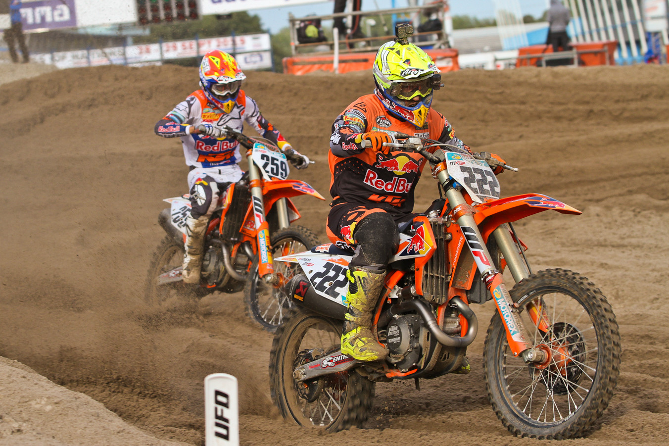 Glenn Coldenhoff was one of only two riders that really saw Antonio Cairoli or Jeffrey Herlings for long.